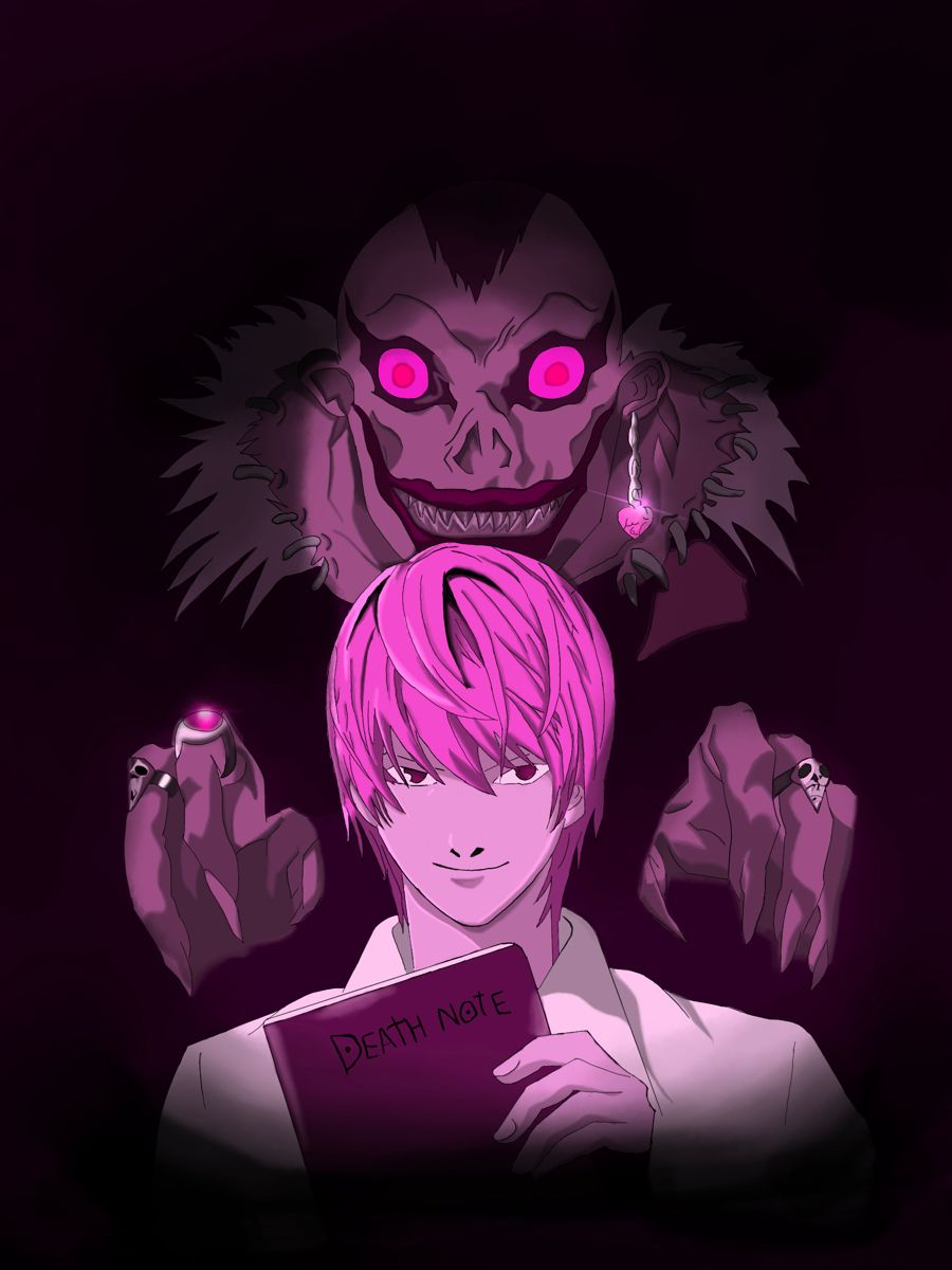 Pink Deathnote Anime Pink Light Yagami Death note anime hd wallpaper