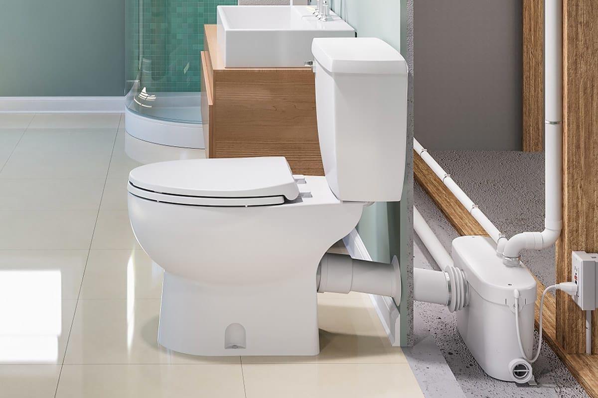 How Do Saniflo Up Flush Toilets Work Basement Bathroom