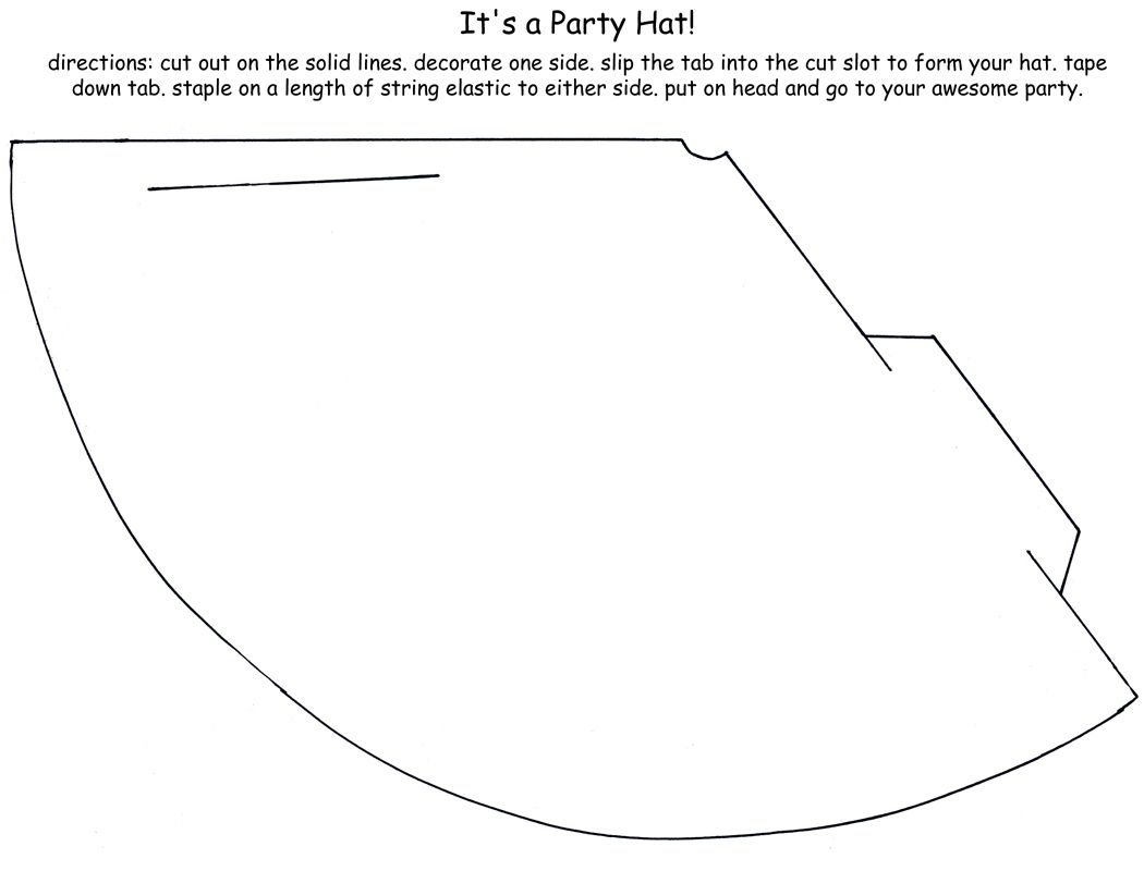 Creative Birthday Card Party Hat Template Party Hats Creative
