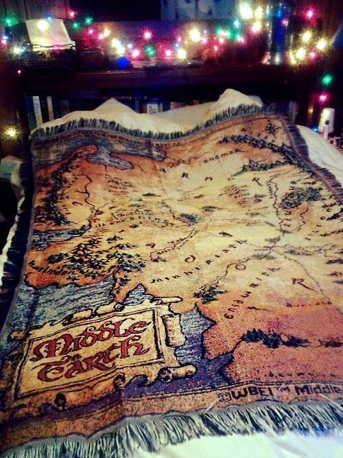 the hobbit map blanket - Google Search