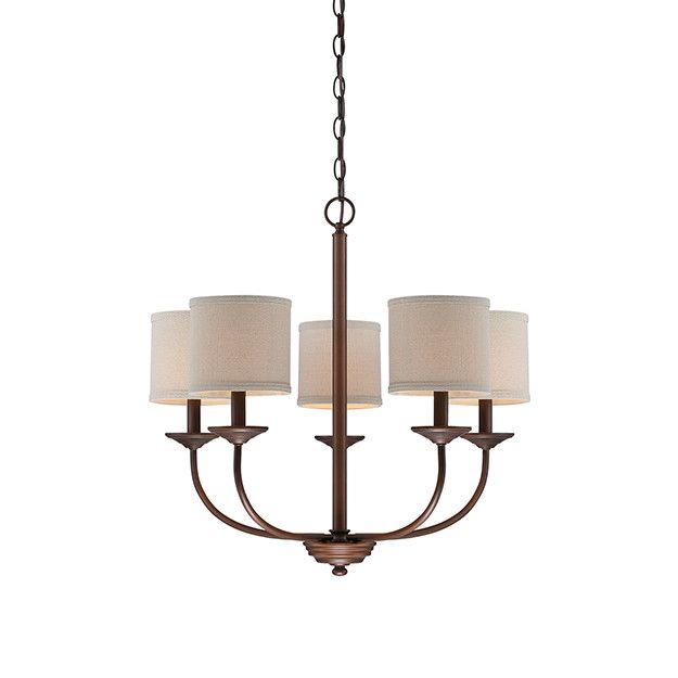 Jackson 5 light drum chandelier