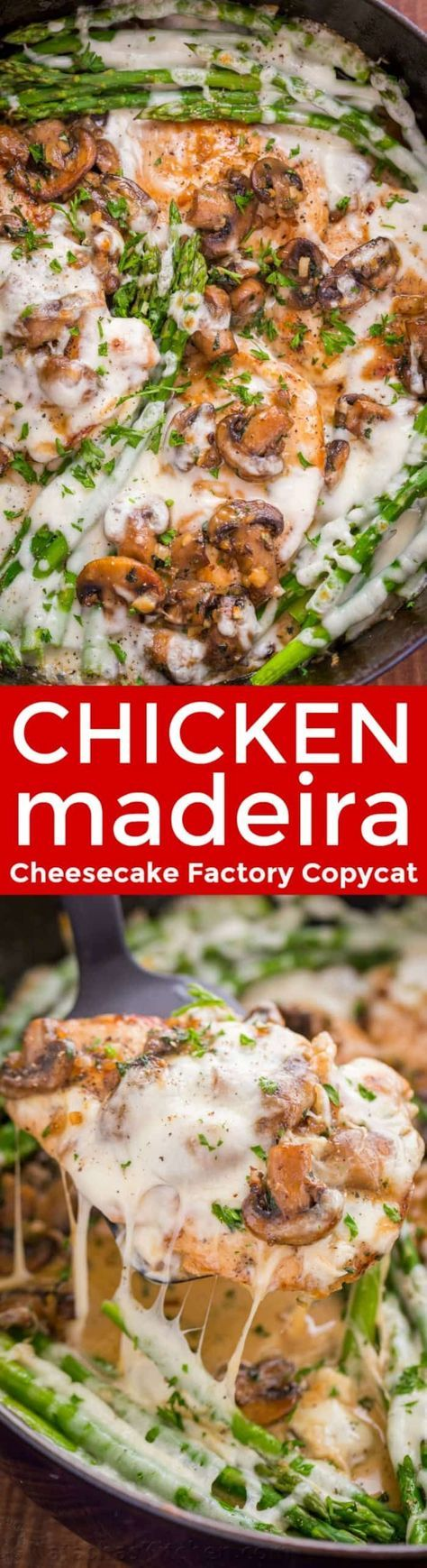 Chicken Madeira With Juicy Chicken And Mushrooms In A Creamy Sauce With Melty Cheese Creamy Chicken Madeira Is A Che Chicken Recipes Recipes Chicken Madeira