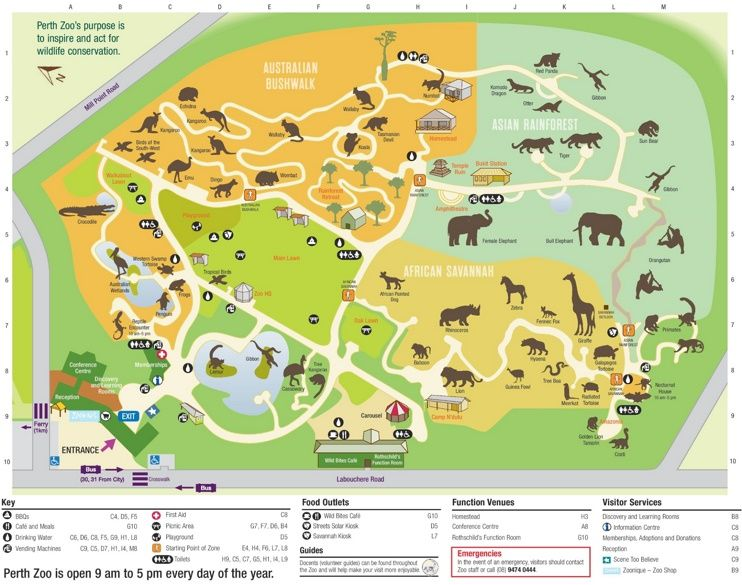 Perth Zoo Map Zoo Map Zoo Zoo Architecture