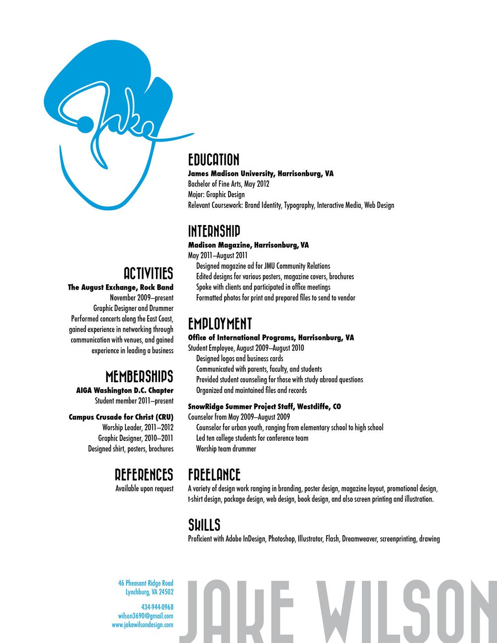 Cyan resume | Design | Pinterest | Graphic design inspiration and ...