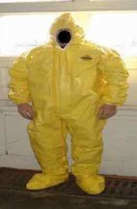 Lakeland Tychem Xl Coveralls Yellow Hood Boots Dupont Tyvek Qc Hazmat Suit Hazmat Suit Suits For Sale Dupont Tyvek