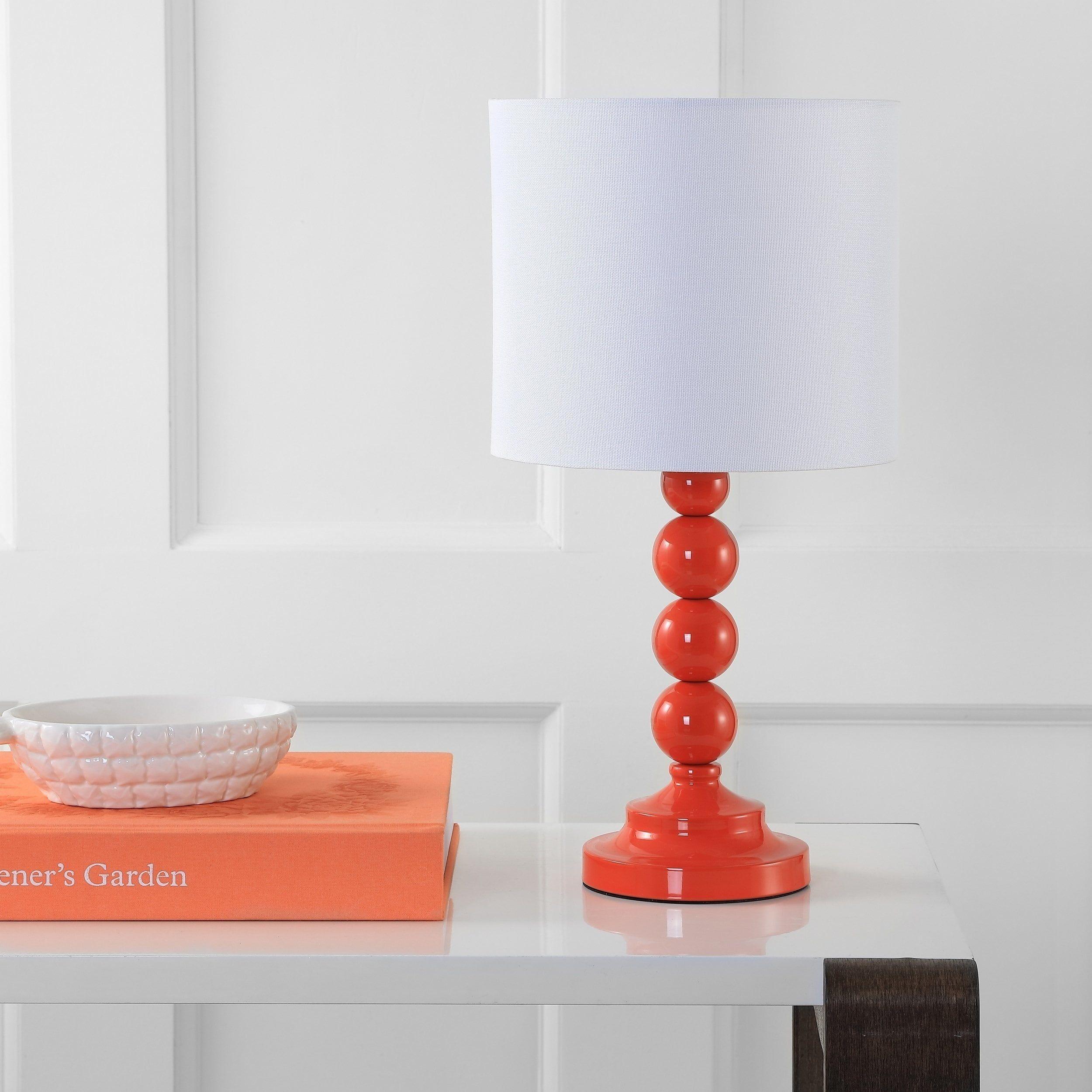 Safavieh Lighting Almeria Table Lamp 20 Inch Orange 9 X