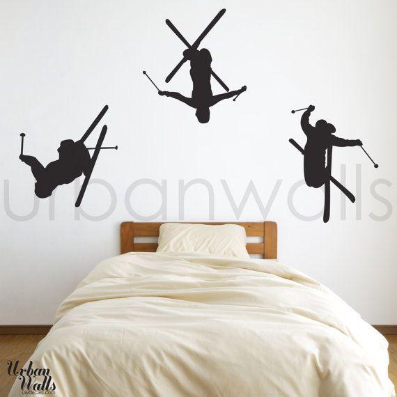 Baby Skier Vinyl Wall Art Decals Decal Wall Art Vinyl Wall