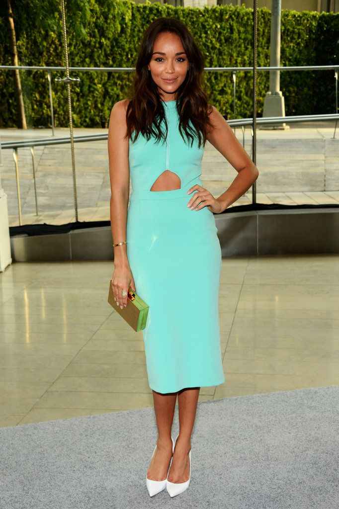 CFDA Awards Red Carpet | Ashley Madekwe was a breath of fresh air in her turquoise cutout dress, and we can't think of a better companion than her white pumps
