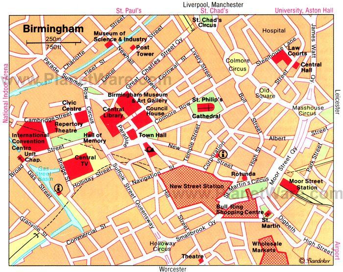 Birmingham Map Tourist Attractions Book wishlist Pinterest