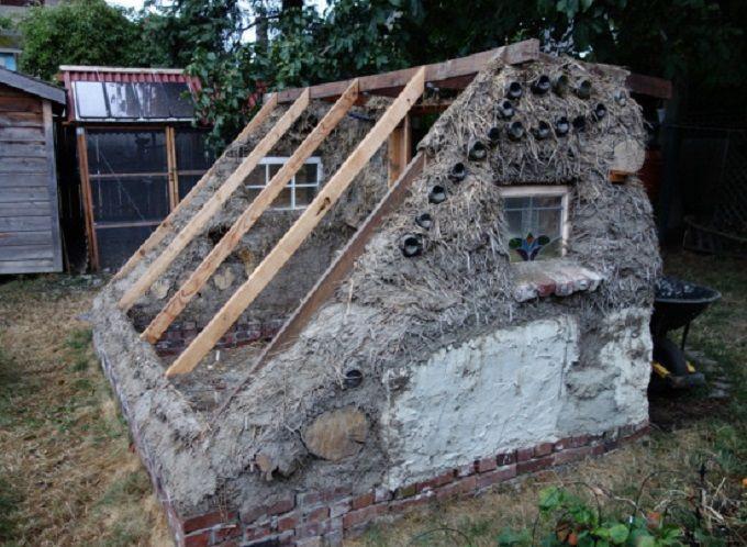 Elegant Straw Bale Greenhouse
