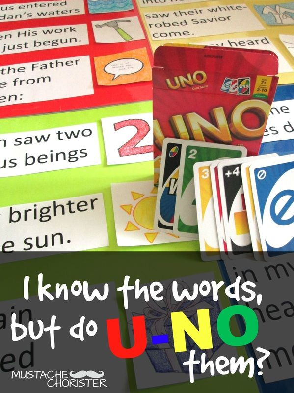 Uno Singing Time Review for LDS Primary Chorister   2017 Primary ...