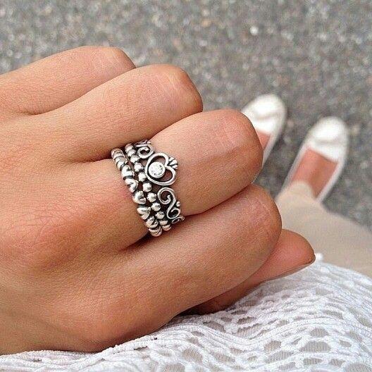 anillo pandora corona princesa