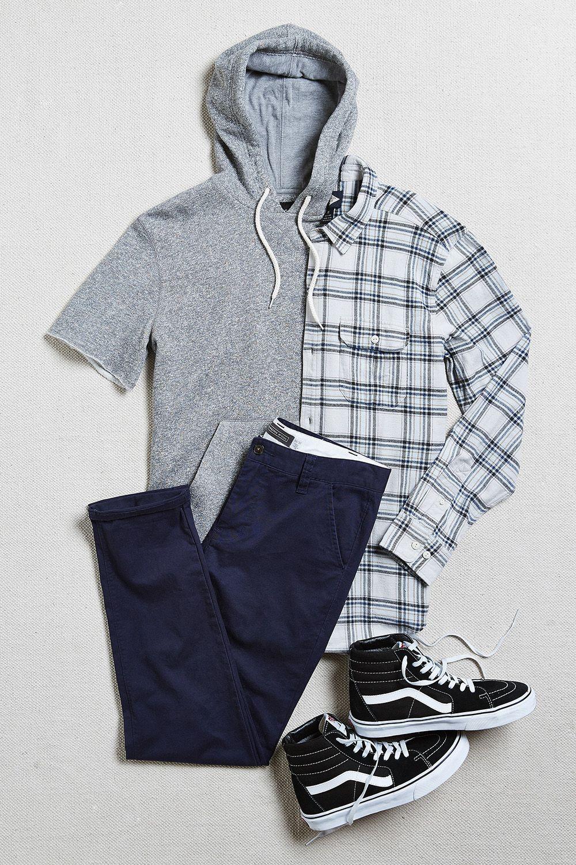 Short sleeve hoodie sweatshirt | men outfits | Pinterest | Short ...