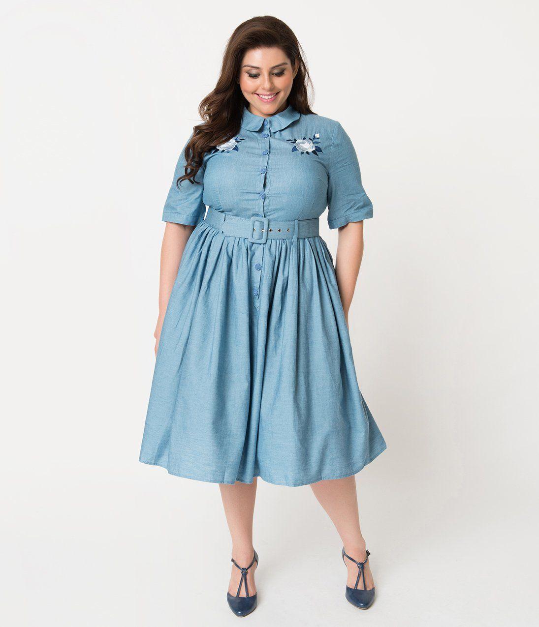 Plus Size Vintage Dresses, Plus Size Retro Dresses in 2020 ...