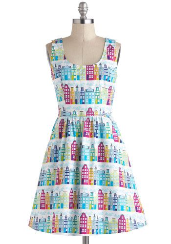 9f5f301ec16 Hour by Flower A-Line Dress in Retro Blossom