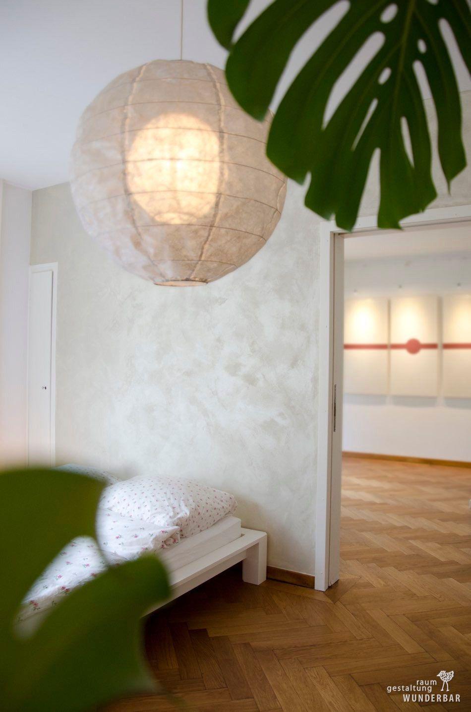 Umweltfreundliche Wandgestaltungen für farbige Wände im Wohnzimmer ...