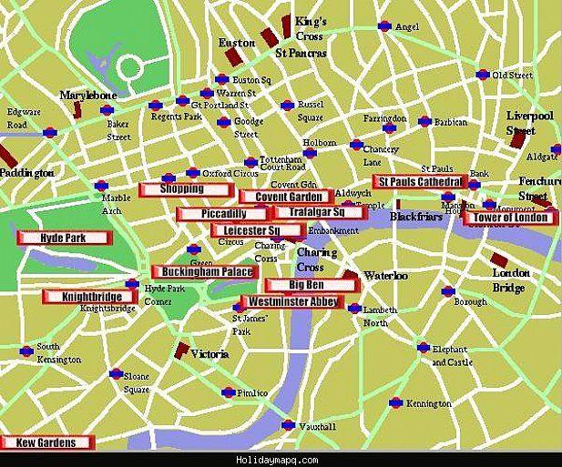 Map Bond Street London.Awesome Map Of London Tourist Holidaymapq Tourist Map London