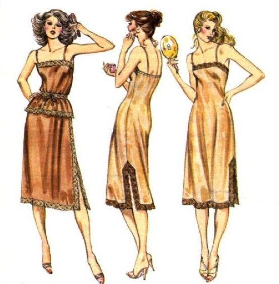 Vintage LINGERIE Sewing Pattern - Misses Half Slip Full Slips ...