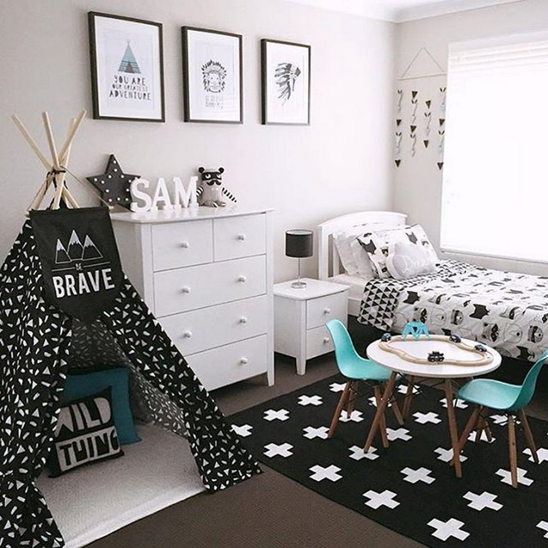 70 Wonderful Black and White Decoration Ideas | Chambres, Room deco ...