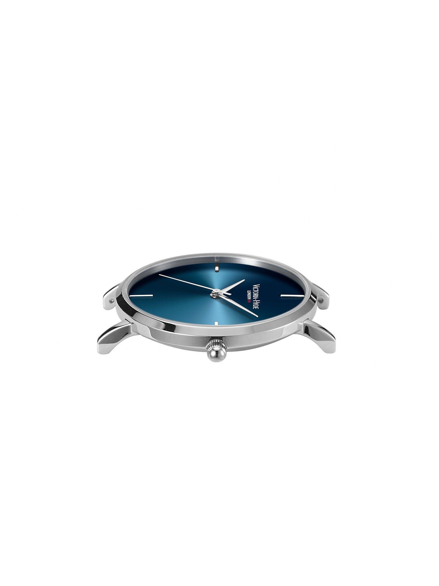 Victoria Hyde Armbanduhr Damen, Enzian / Himmelblau / Silber, Größe One Size