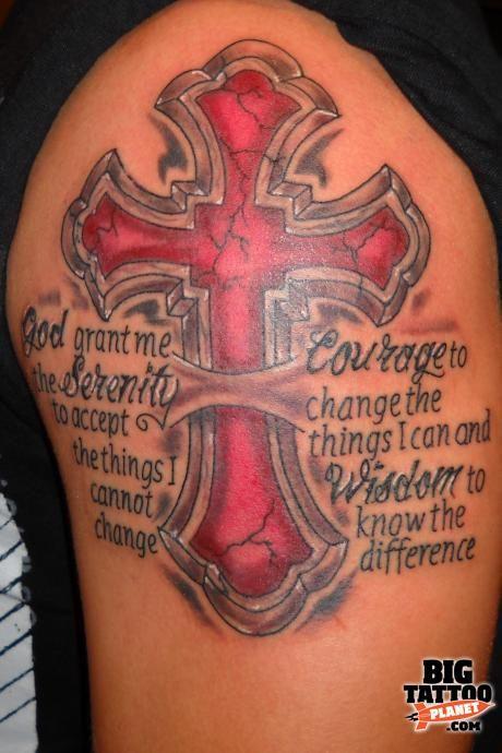 serenity prayer tattoo | Aran Campas - Colour Tattoo | Big ...