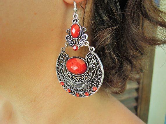 BOHO earrings Christmas Bohemian Earrings Boho by ellajewelrystore