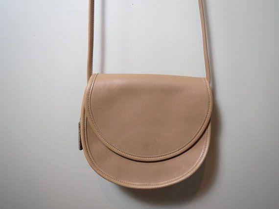 Vintage Coach Bag CASEY Crossbody Tan Leather Coach Bag