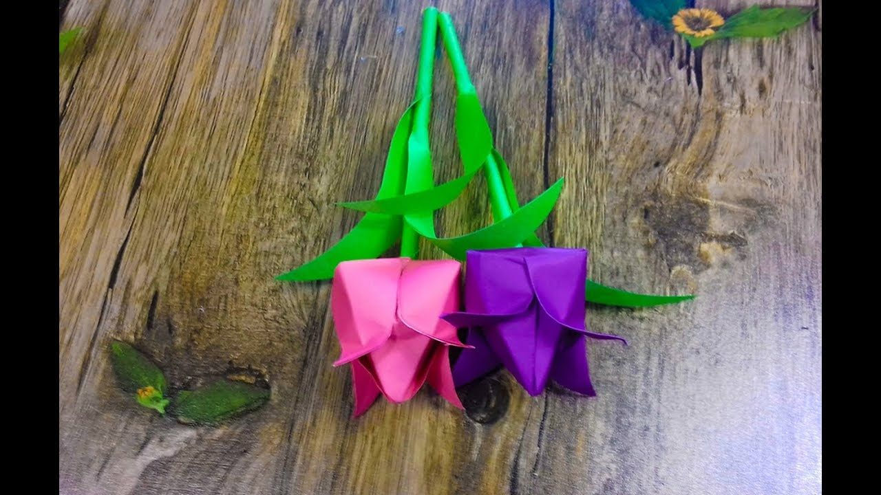 How to make simple tulip flowers with paper flower making craft with how to make simple tulip flowers with paper flower making craft with paper mightylinksfo