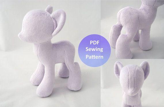 PlanetPlush Minky Pony Sewing Pattern | Einhörner