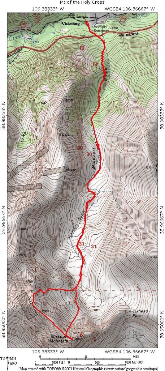 Missouri Mountain Topographical Map   World of Maps