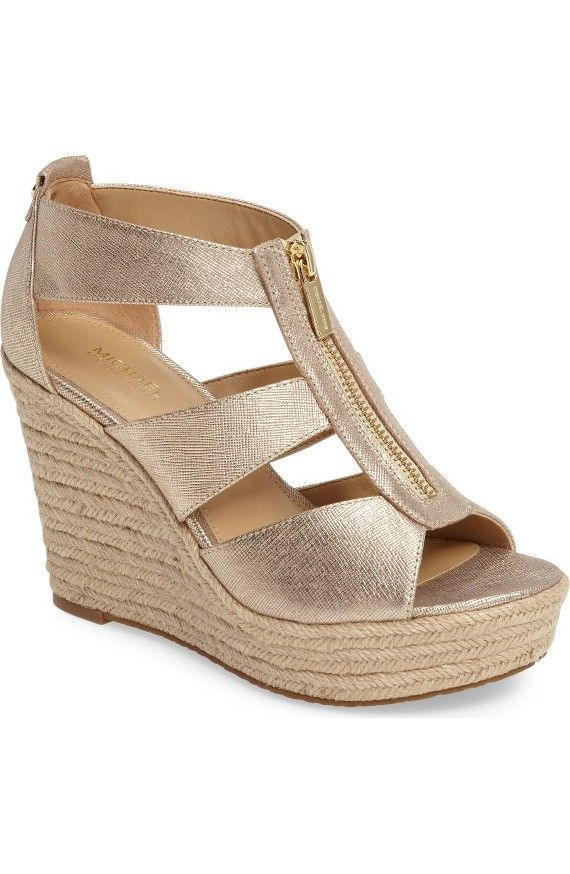 Need wedges to dress up short and top outfits.  Would like one pair that can go with several options.