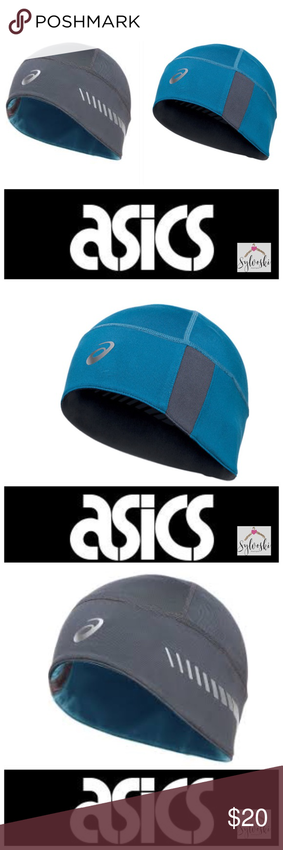 f1612777ab6 🆕Thermopolis LT 2-N-1 Beanie Unisex Running Hats ASICS exclusive  Thermopolis® LT gives this beanie soft comfort featuring reversible  versatility.
