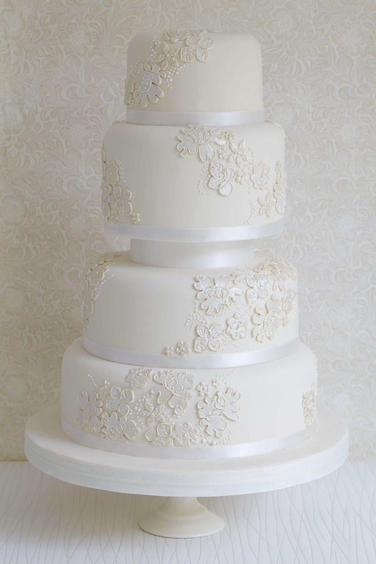 Pin by Alissa on White Textured Wedding Cake | Pinterest | Wedding ...