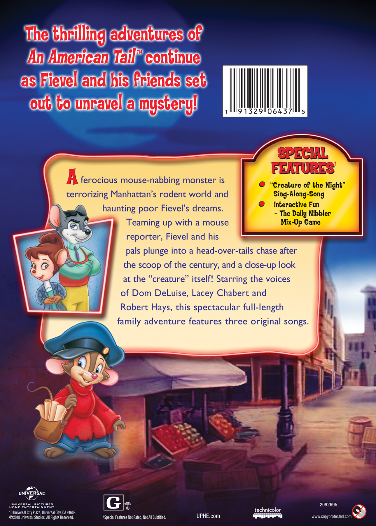 An American Tail The Mystery of the Night Monster Movie