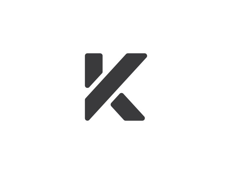 K Logo Typography. This is very good as a minimalist design