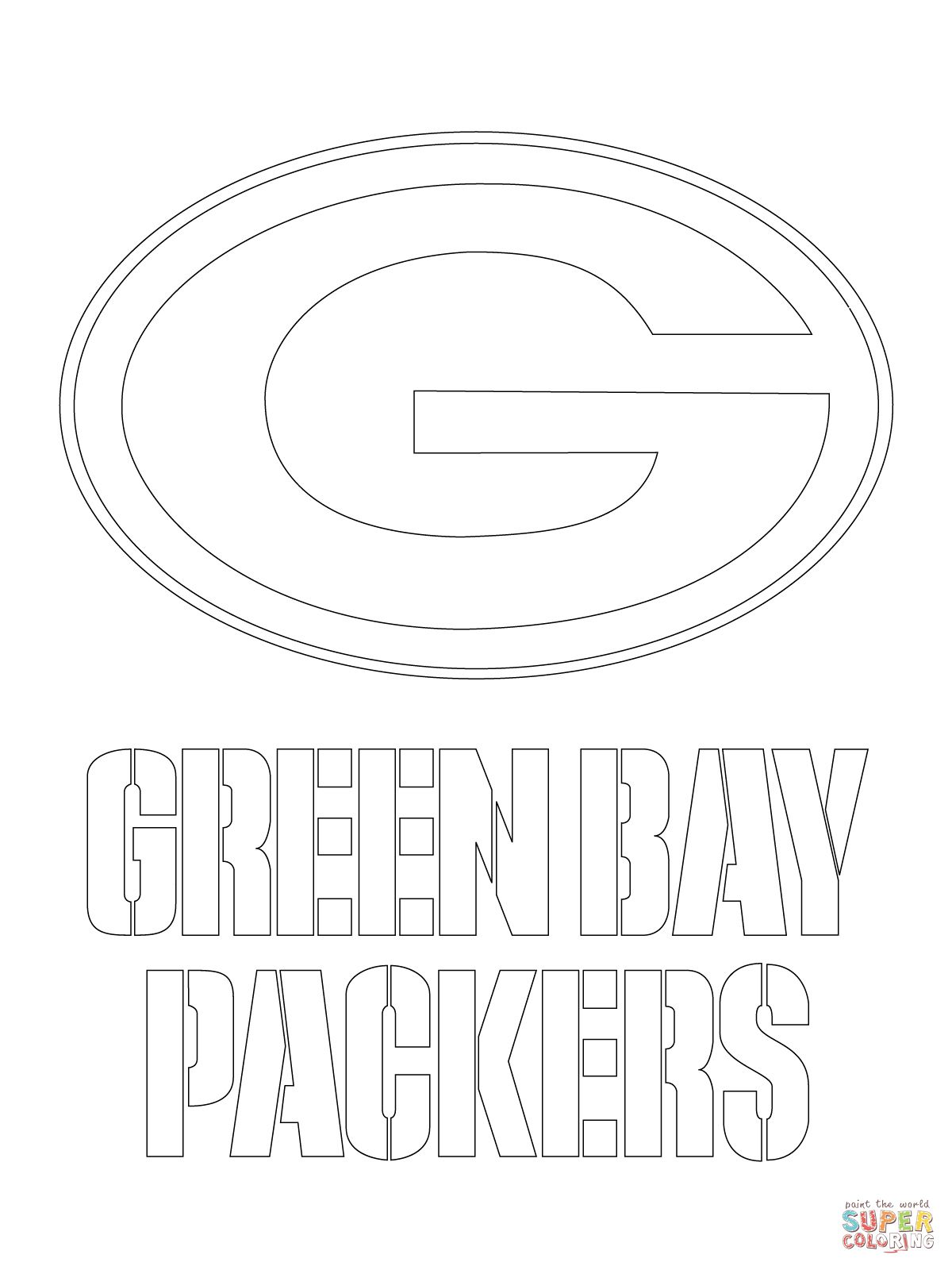 Green Bay Packers Logo Coloring Page Supercoloring Com Green Bay Packers Logo Green Bay Packers Football Coloring Pages