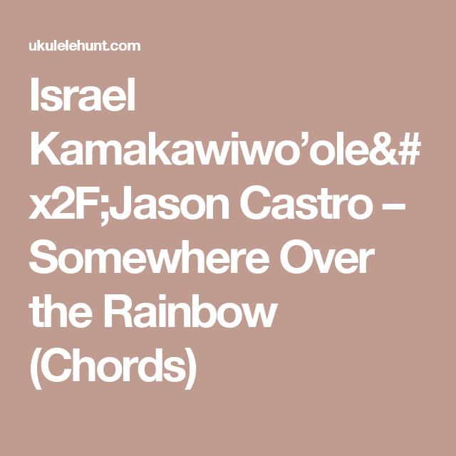 Israel Kamakawiwoolejason Castro Somewhere Over The Rainbow