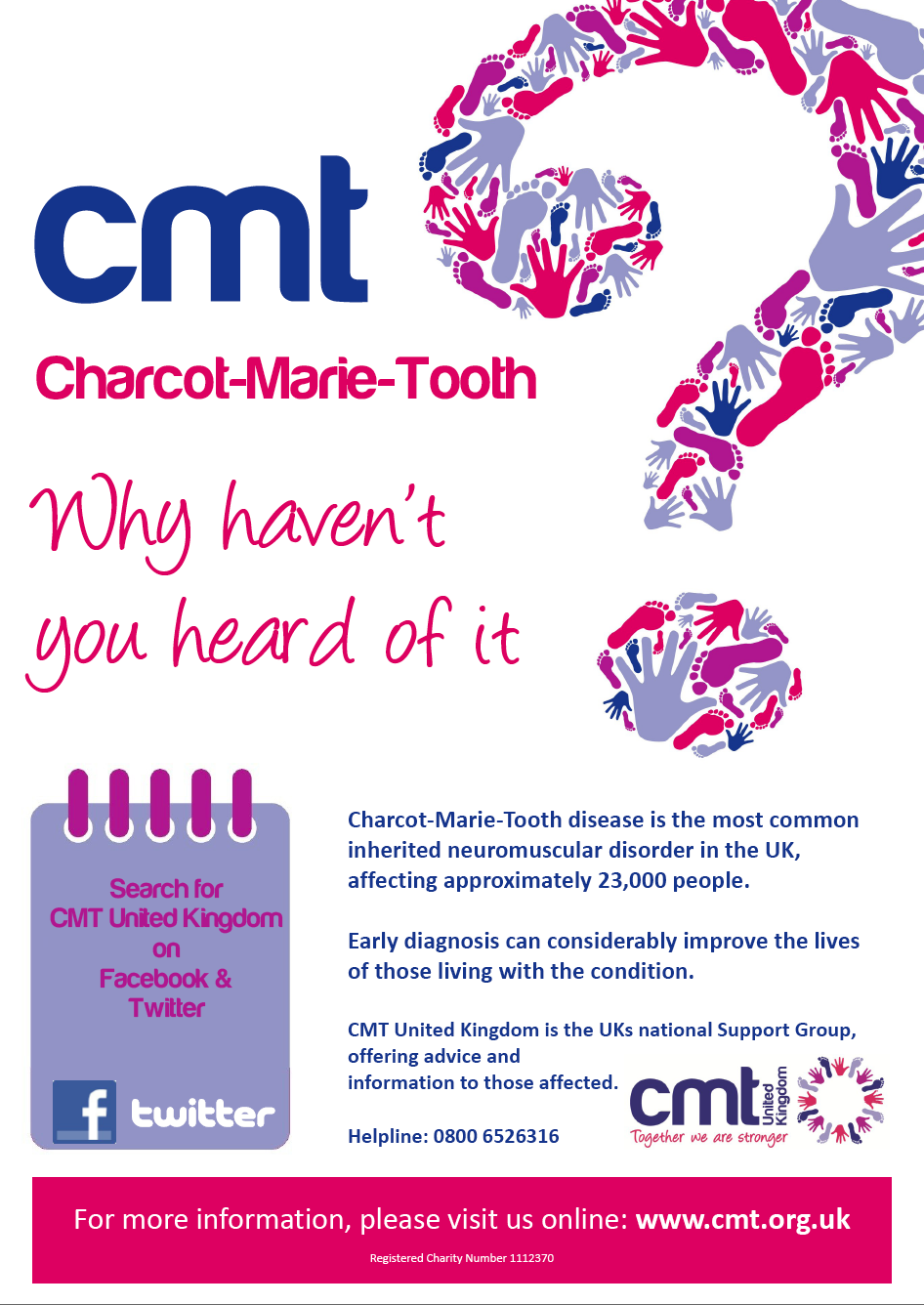 CMT - Charcot Marie Tooth disease... why haven't you heard of it?