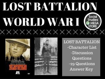 The Lost Battalion Video Movie A and E WWI World War I US HistoryAt the end of first semester I go through WWI pretty quickly and I decided to show this great little movie. It has amazing reviews and is a really intriguing story showing the trenches from a US perspective.