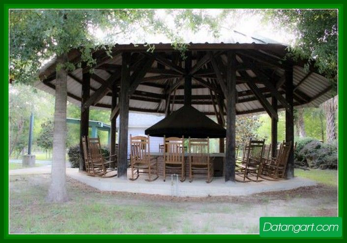 Fire Pit Outdoor Living Room Metal Hood Gazebo With Fire Pit