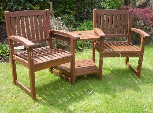henley hardwood garden bench companion set love seat great outdoor furniture for your garden or patio - Wooden Garden Furniture Love Seats