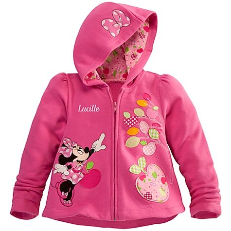255e0465b Personalizable Zip Fleece Minnie Mouse Hoodie for Toddler Girls ...