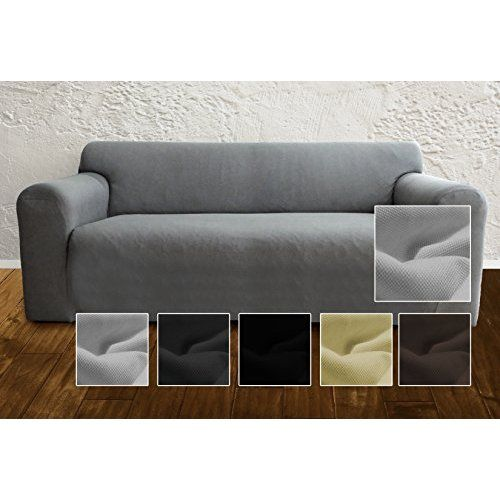 Elastic Couch Cover By Ambivelle Bi Elastic Stretch Cover Sofa Cover Slipcover To Fit Many Popular Two Grey Couch Covers Couch Covers Slipcovers Sofa Covers