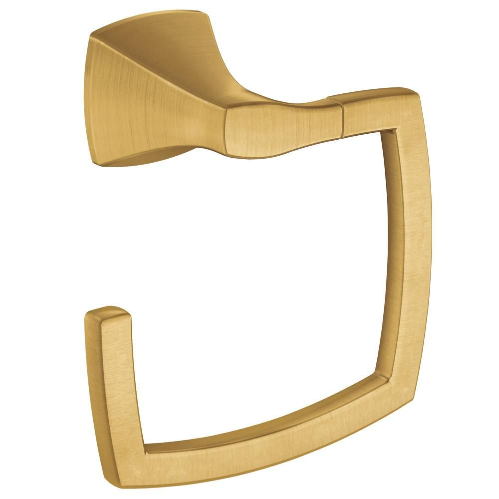Moen Voss Towel Ring In Brushed Gold Yb5186bg Towel Rings Gold Walls Towel