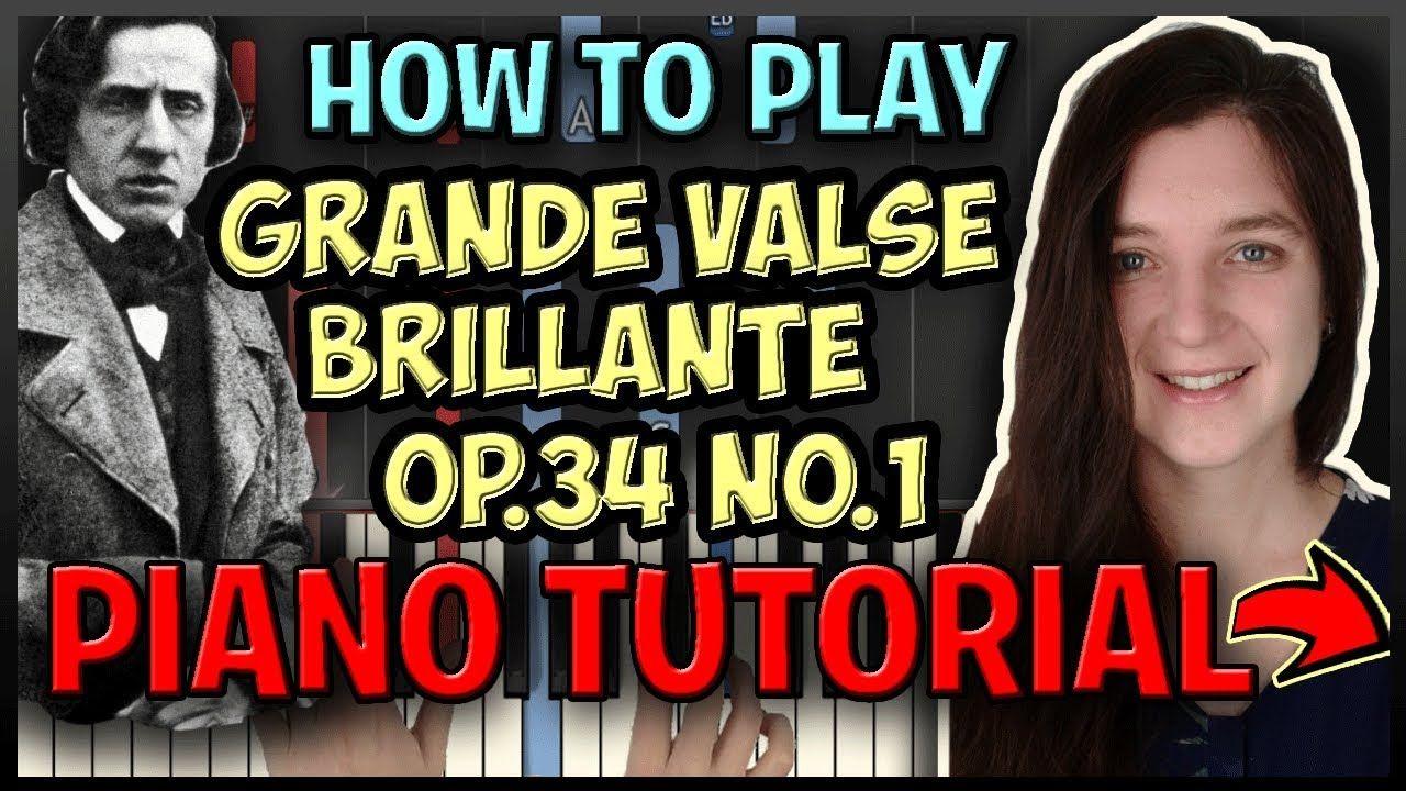 How To Play Grande Valse Brillante By Chopin Easy Piano Synthesia Piano Tutorial Easy Piano Piano Songs