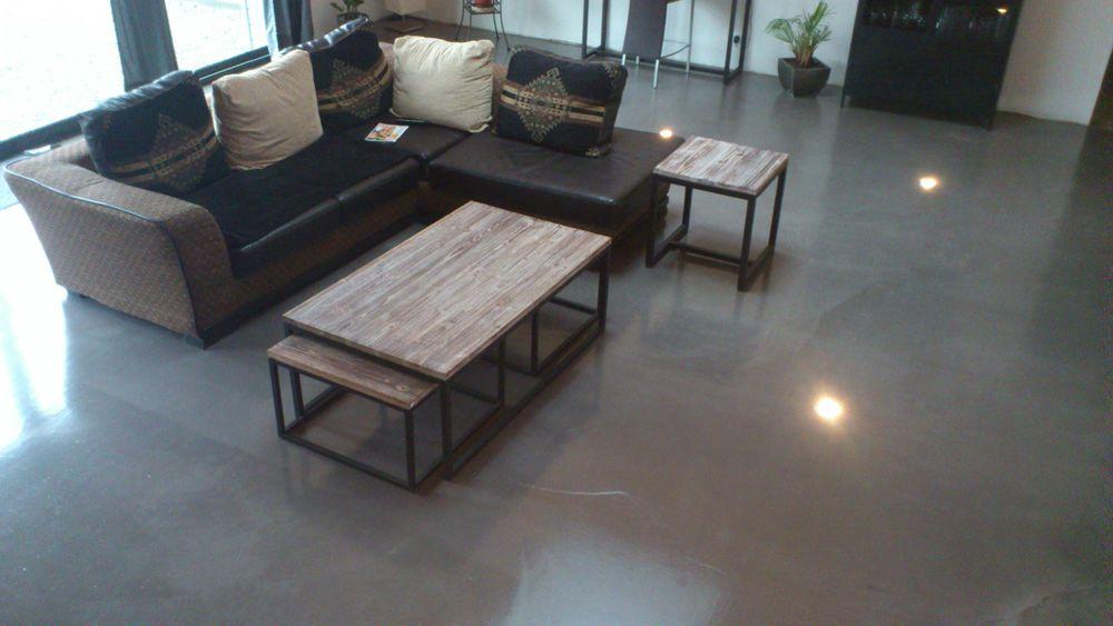 Loft original avec un sol résine aspect béton ciré | Beton ...