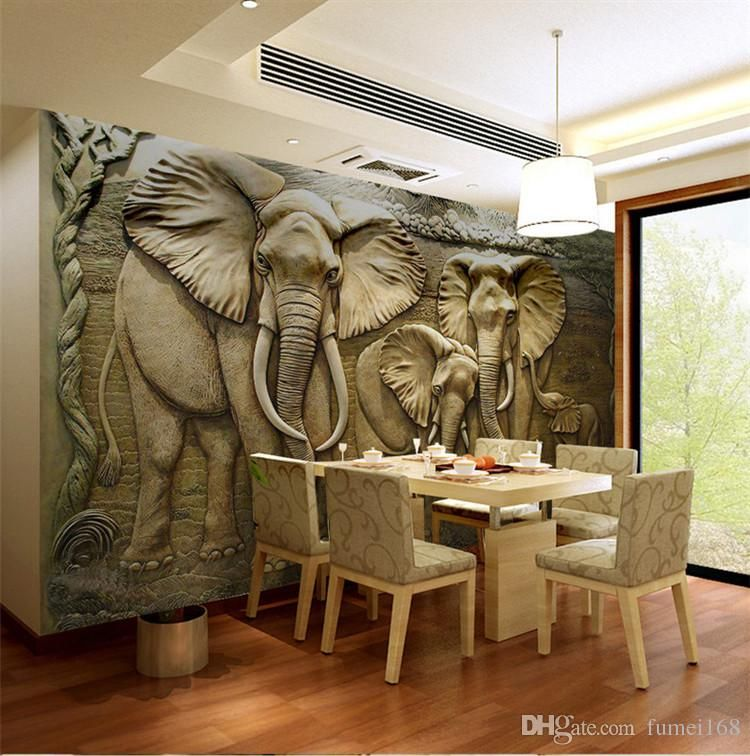 3D Elephant Wallpaper Murals For Living Room Wall Art Decor Landscape Papel Tapiz Para Paredes 3d Stereoscopic Wallpapers Luxury 3d Wallpapers A Hd Wallpaper From Fumei168, $32.17| DHgate.Com images