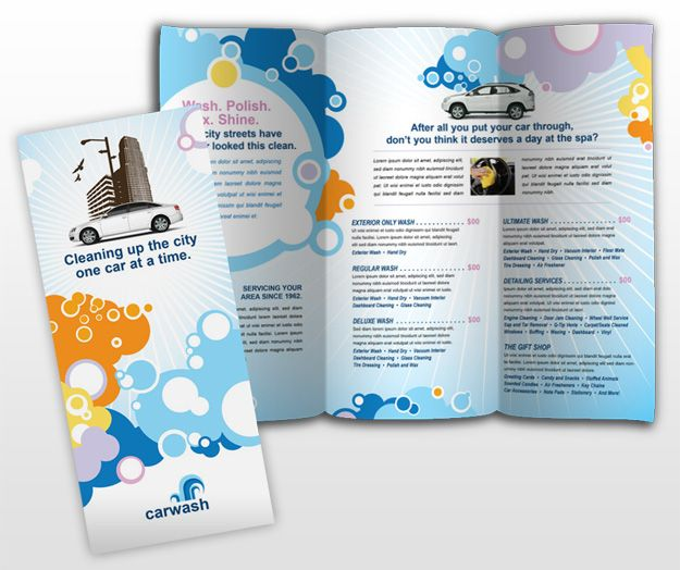 Vehiclecleaningandcarebrochuretemplate Brochure Ideas - Cleaning brochure templates free