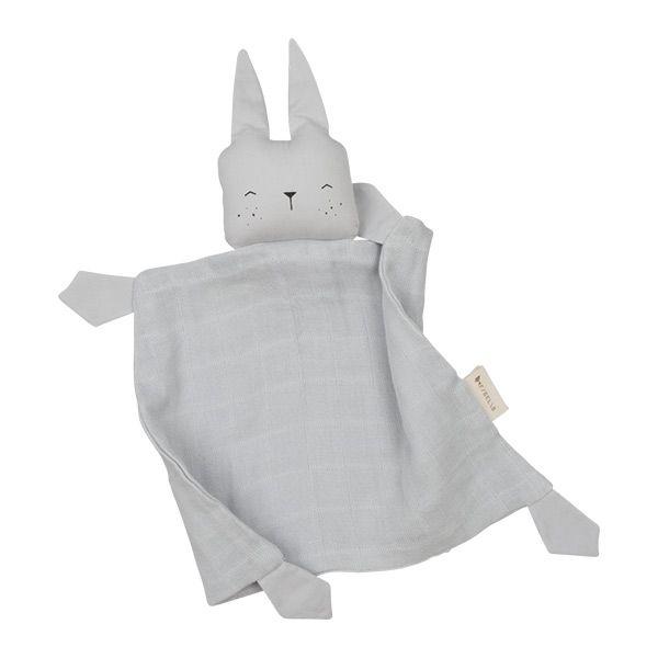 Fabelab Knuffeldoekje Animal Bunny Ice Grey Fabelab