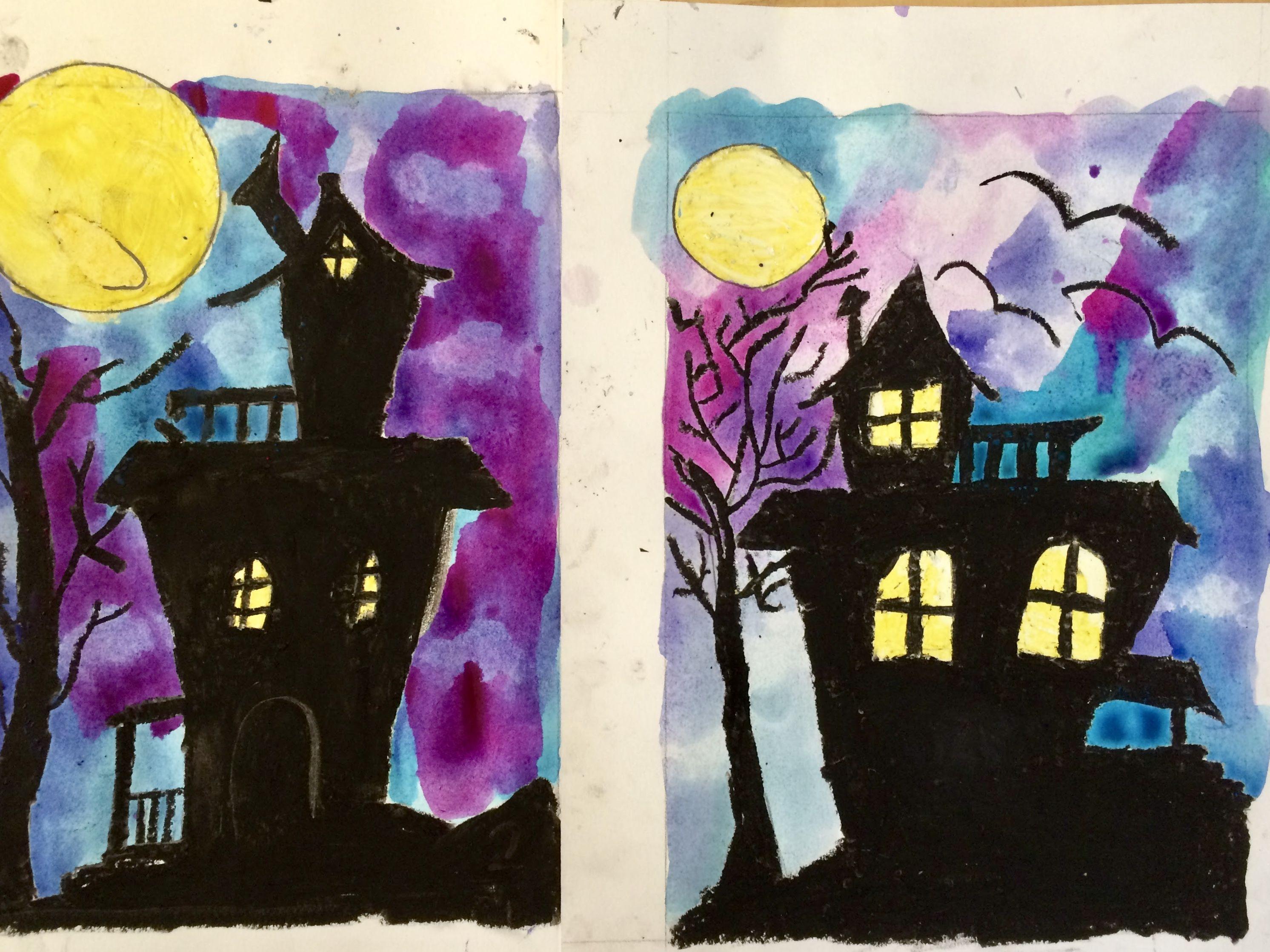 Original Plans For Halloween 2020 Spooky House Halloween Art Lesson by Art Teacher in LA Art | Etsy
